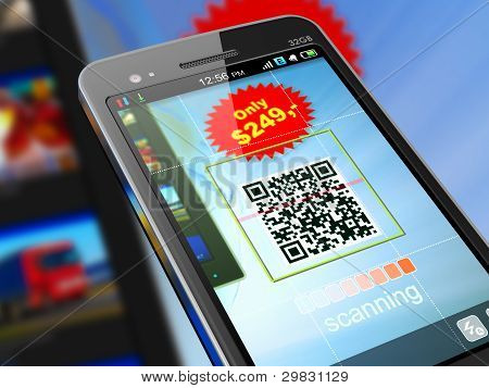 Smartphone digitalização QR code