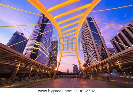 Sky Bridge Connection To Bangkok Rapid Transit Station, Sathon Junction, Bangkok,thailand