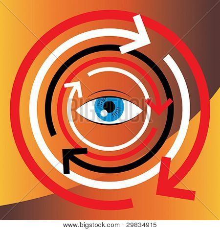 Concept illustration of human vision and psychology
