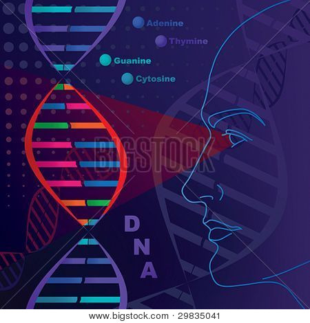 DNA genetic researches, test.