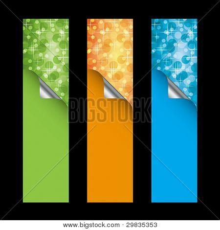Vector vertical banners, templates, EPS 8, CMYK.
