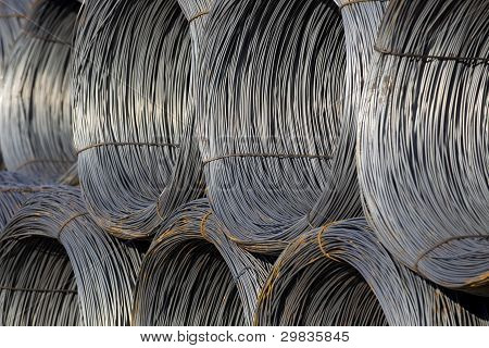 Cable Wire Rolls Kept Together