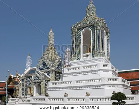Pagodas At  Temple Of The Emerald Buddha