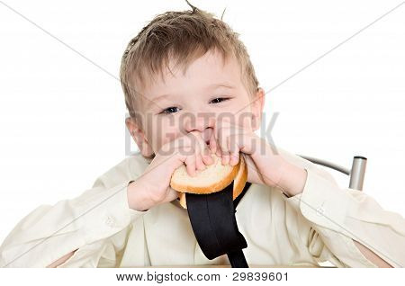 Boy With Sandwich