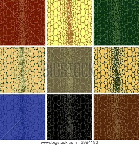Seamless Pattern Of Crocodile Leather Skin To Background Texture