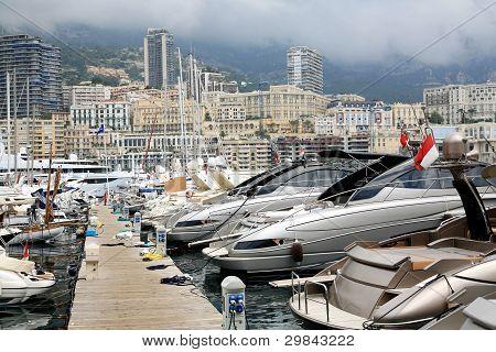 One Of The Piers In Monaco, Monte Carlo