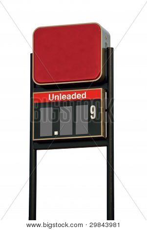 Signo de precio de gasolina