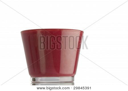 A full glass of smoothie