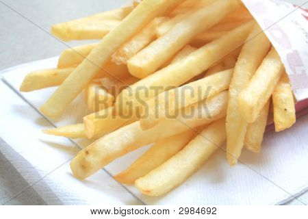 Generic French Fries From A Fastfood Restaurant