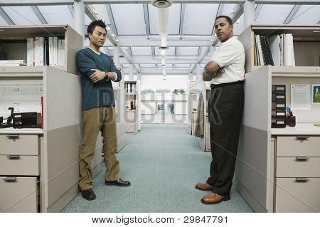 Full length portrait of two businessmen