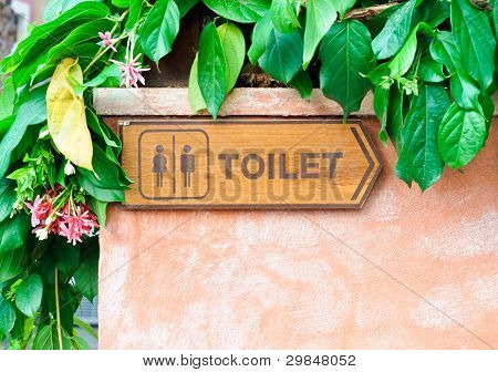 Toilet Direction Board