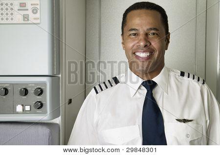 Retrato de piloto de avión