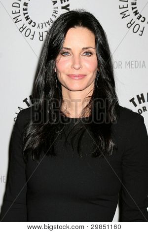 """LOS ANGELES - FEB 8:  Courteney Cox arrives at the """"Cougar Town"""" Screening and Panel at Paley Center for Media on February 8, 2012 in Beverly Hills, CA"""