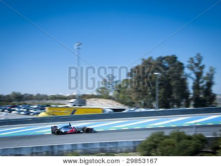 Jenson Button At Jerez 2012