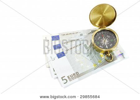 Compass with Euro Notes