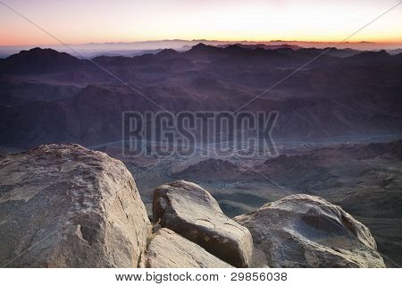 Dawn In Sinai Mountains