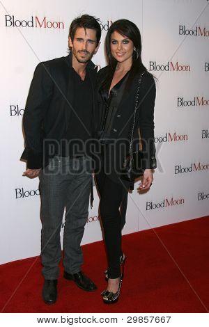 LOS ANGELES - FEB 9:  Brandon Beemer, Nadia Bjorlin arrives at the