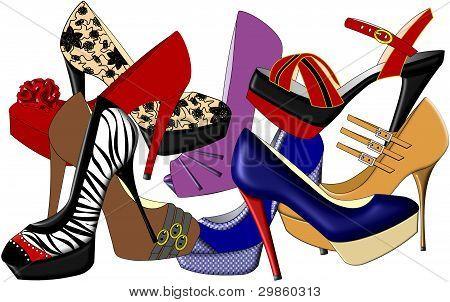 Sapatos de salto altos