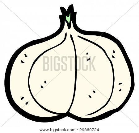 garlic bulb cartoon