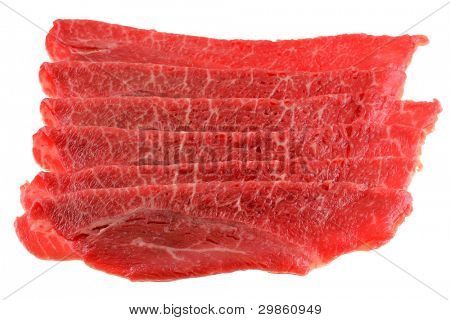 Freshly sliced Bulgogi beef to make Korean BBQ Dish