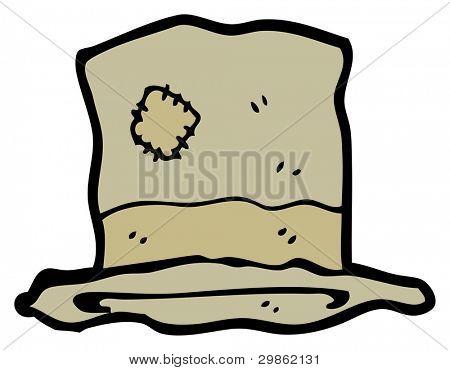 hobo top hat cartoon