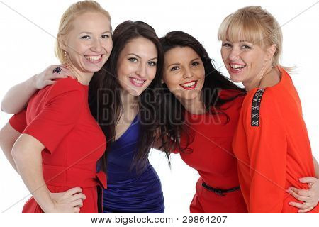 Portrait of four adult women