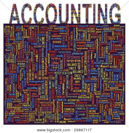 Accounting Concept in Word Collage