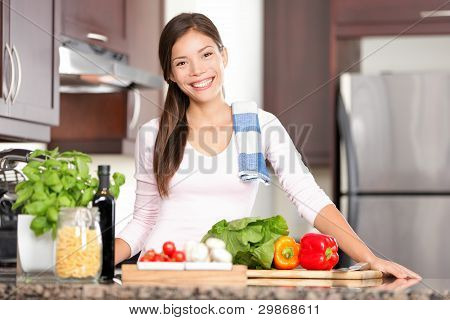 Kitchen Woman Making Food
