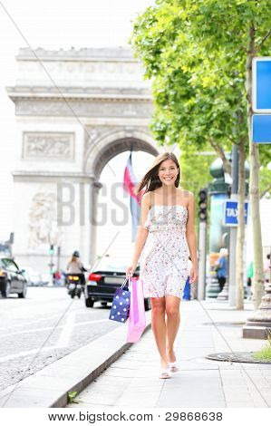 Paris Woman Shopping