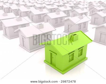 Many houses