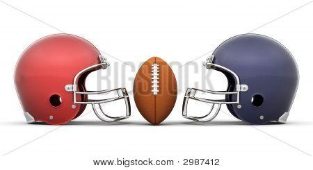 Football And Helmets