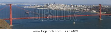 San Francisco And Golden Gate Panorama