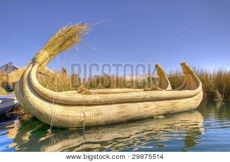 Reed Boat in Titicaca Lake, Peru
