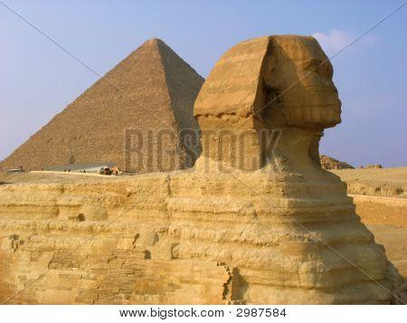 Esfinge y las pirámides de Giza