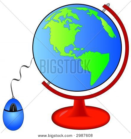 Globe On Stand W Mouse