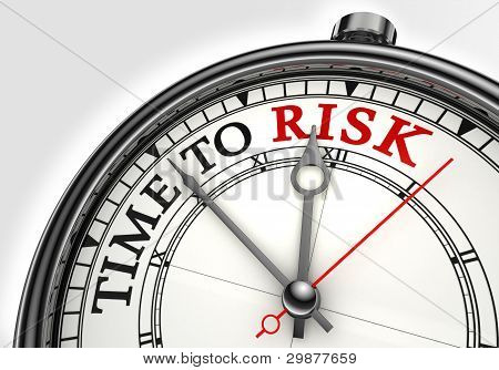 Risk Time Concept Clock Closeup