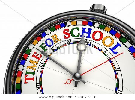 Time For School Colorful Concept Clock