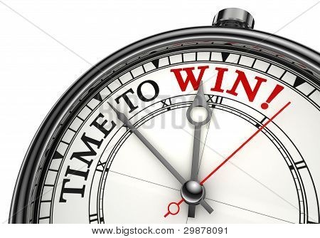 Time To Win Concept Clock