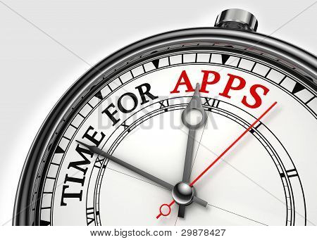 Zeit für apps Konzept-Uhr