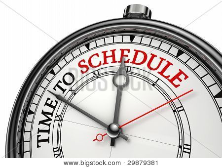 Time To Schedule Concept Clock