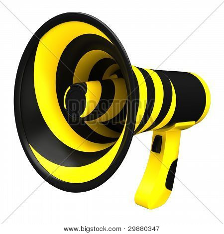 Megaphone in bright colors.