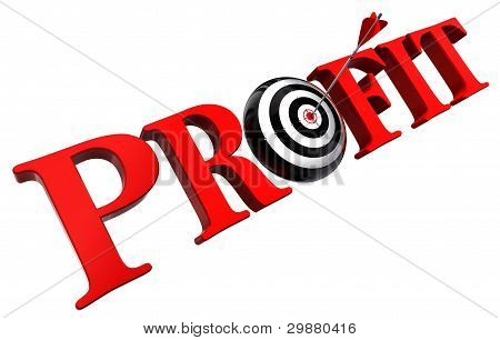 Profit Red Word And Conceptual Target