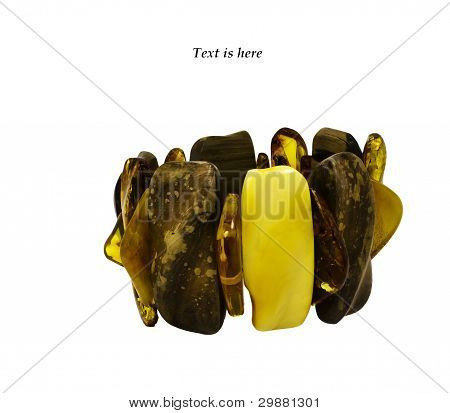 Bracelet of Baltic amber