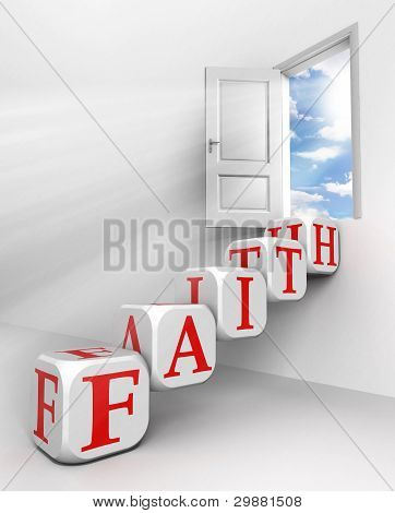 Faith Conceptual Door
