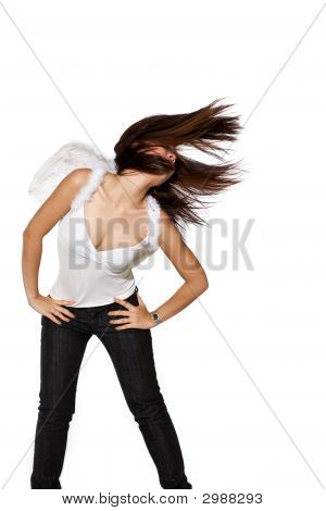 Tossing Hair To The Side While Dancing
