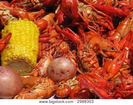 Crawfish Corn And Potatoes