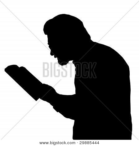 Nearsighted Man Reading From Book