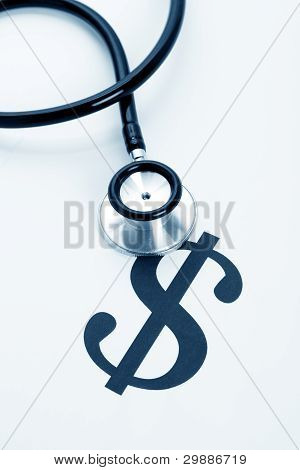 Stethoscope And Dollar Sign