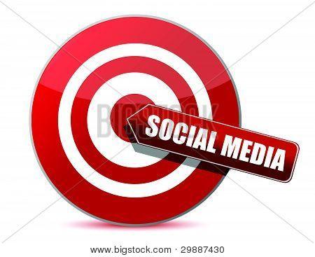 target bulls eye social media illustration design on white