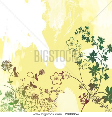 Abstract Floral Backgrund
